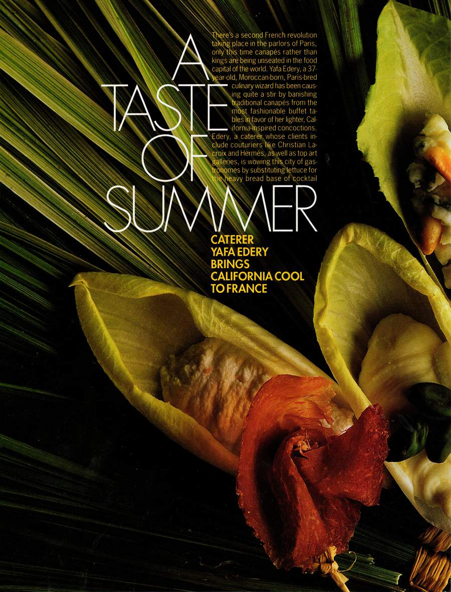 A Taste of Summer - An article in Elle - Page 1