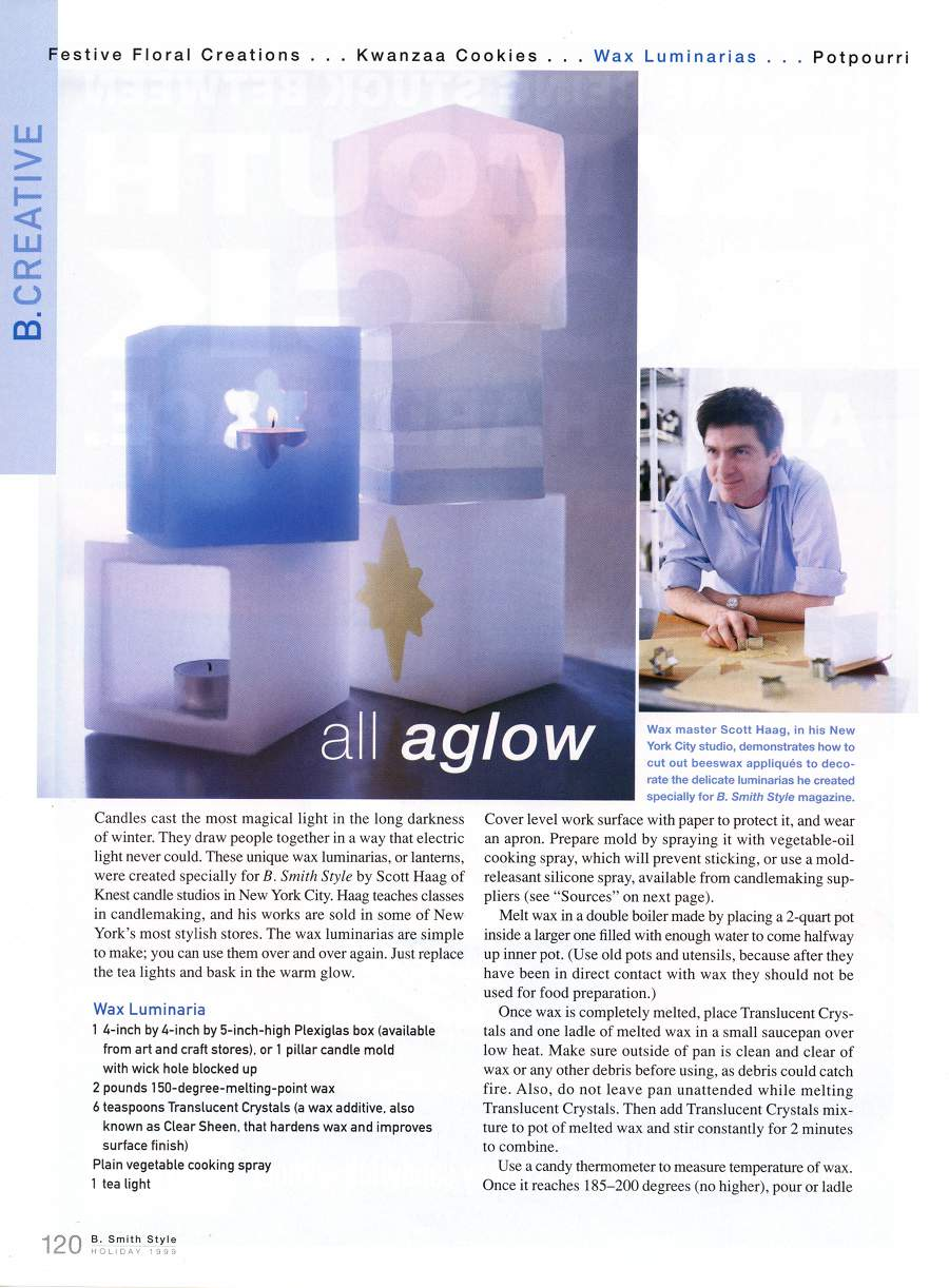 All Aglow - An article in B Smith Style - Page 1