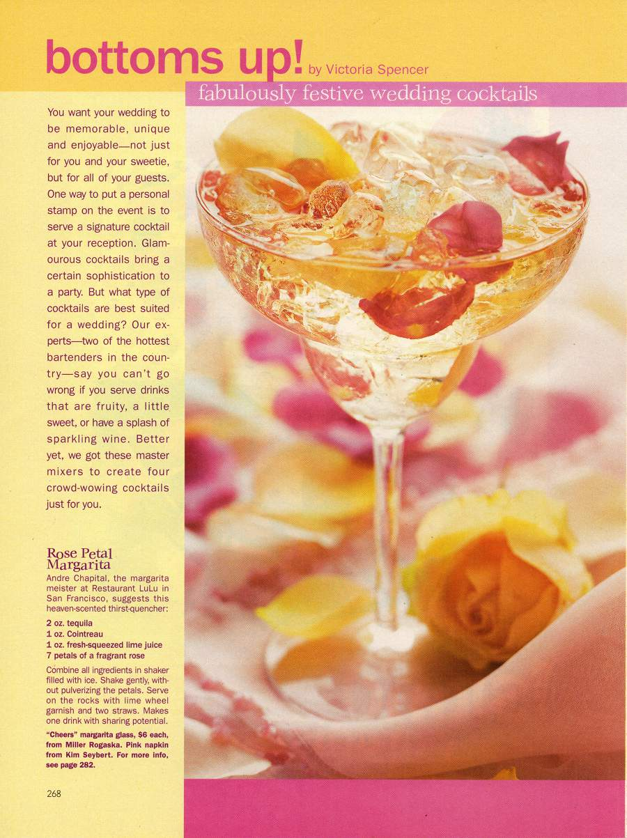 Bottoms Up - An article in Modern Bride - Page 1