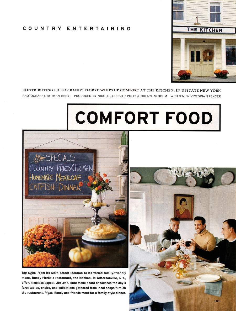 Comfort Food - An article in Country Living - Page 1