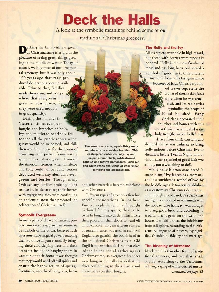 Deck the Halls - An article in Christmas Traditions - Page 1