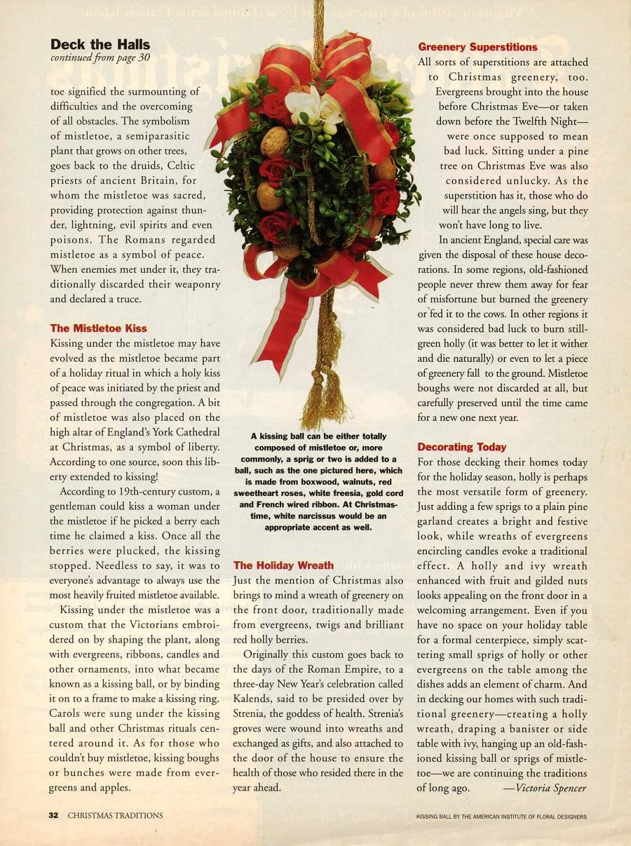 Deck the Halls - An article in Christmas Traditions - Page 2