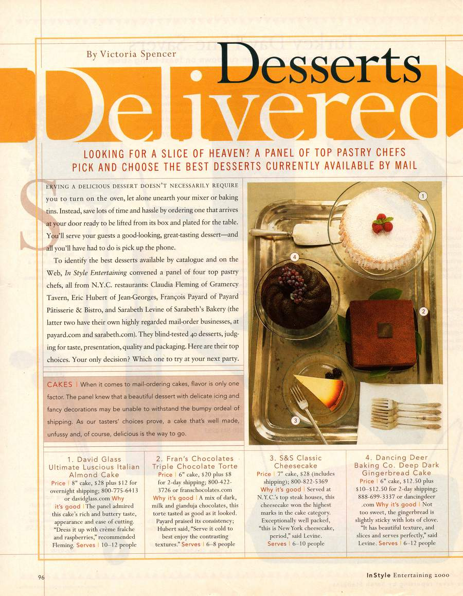 Desserts Delivered - An article from In Style - Page 1