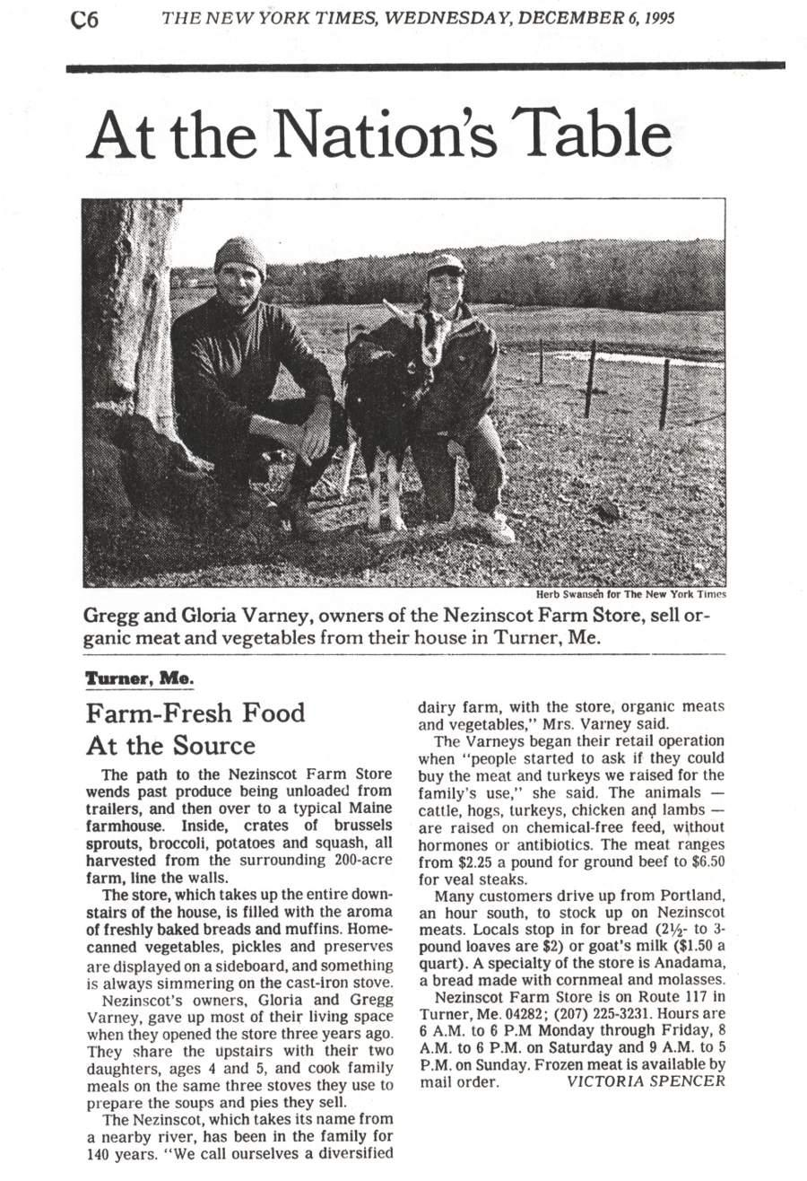Farm Fresh Foods at the Source - An article in the New York Times