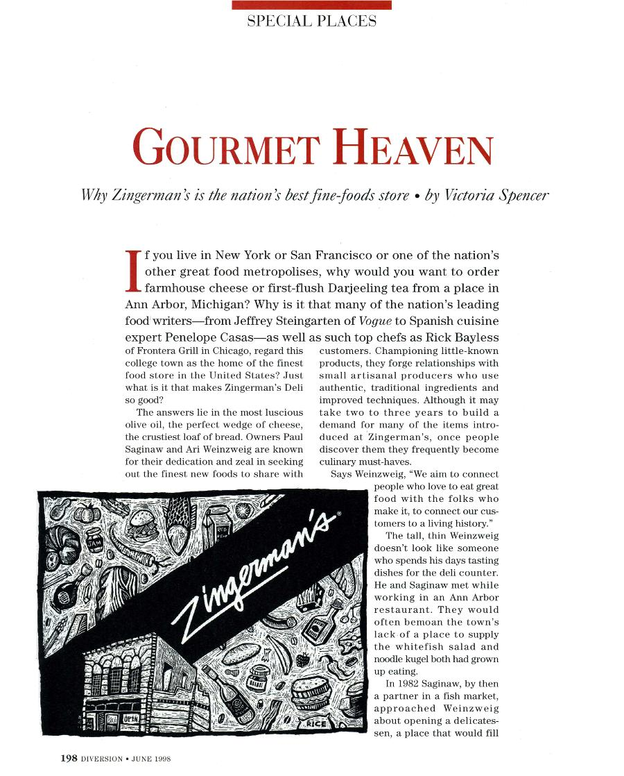 Gourmet Heaven - An article in Diversion - Page 1