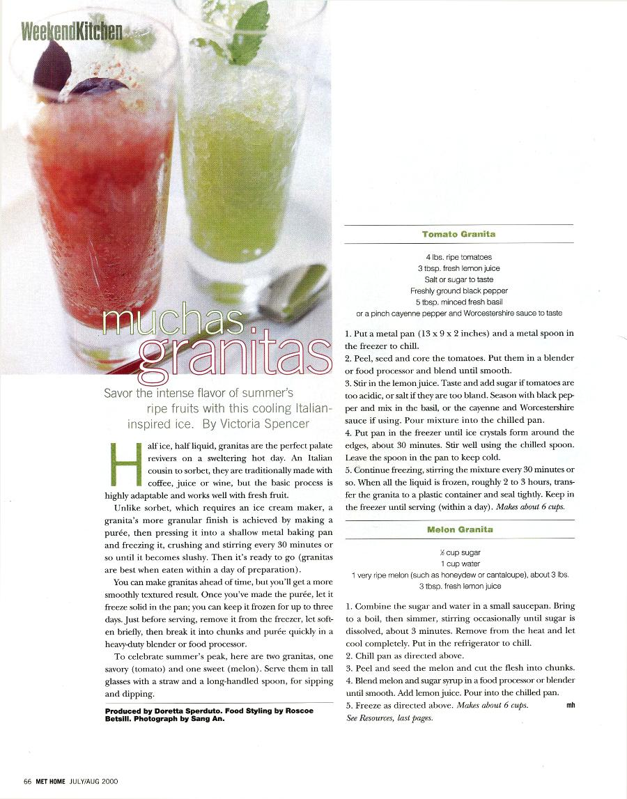 Muchas Granitas - An article in Metropolitan Home - Page 1
