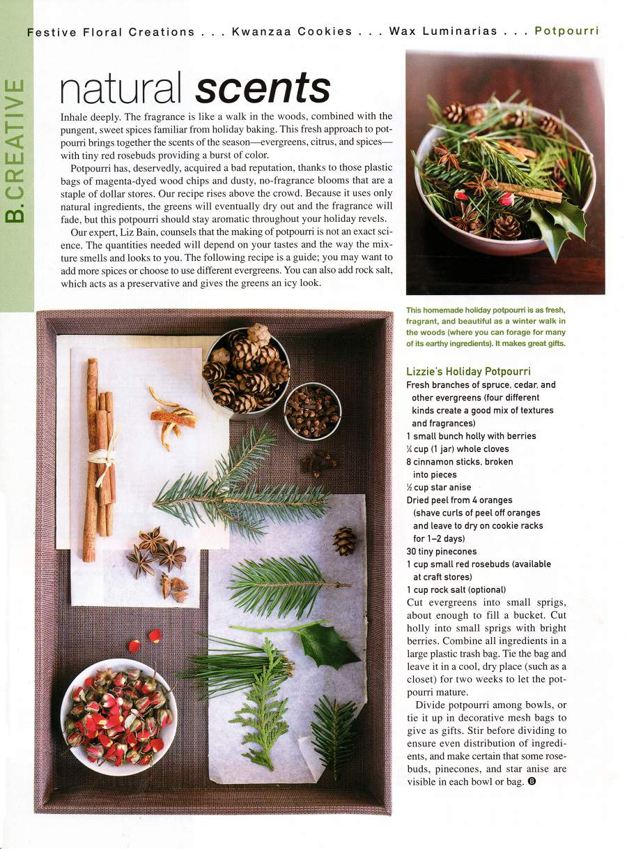 Natural Scents - An article in B Smith Style