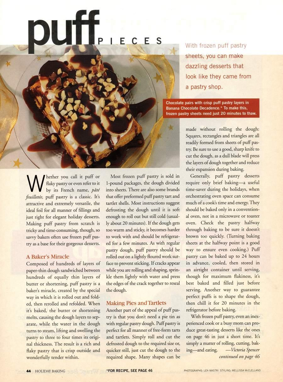 Puff Pieces - An article in Holiday Baking - Page 1