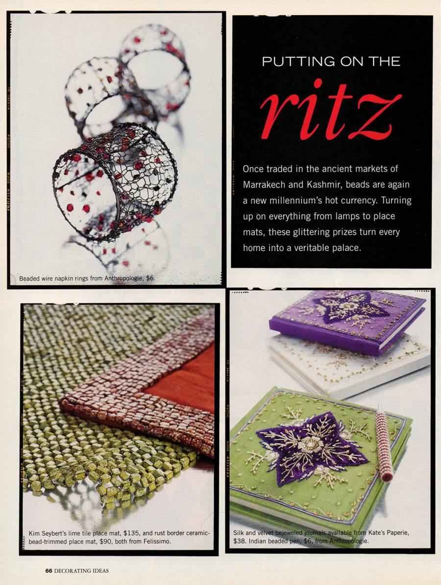Putting on the Ritz - An article in Decorating Ideas - Page 1