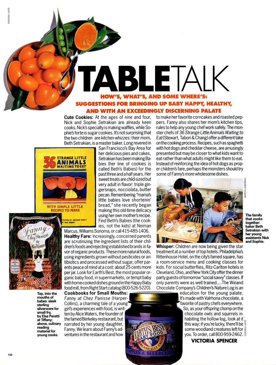 Table Talk - An article from Elle