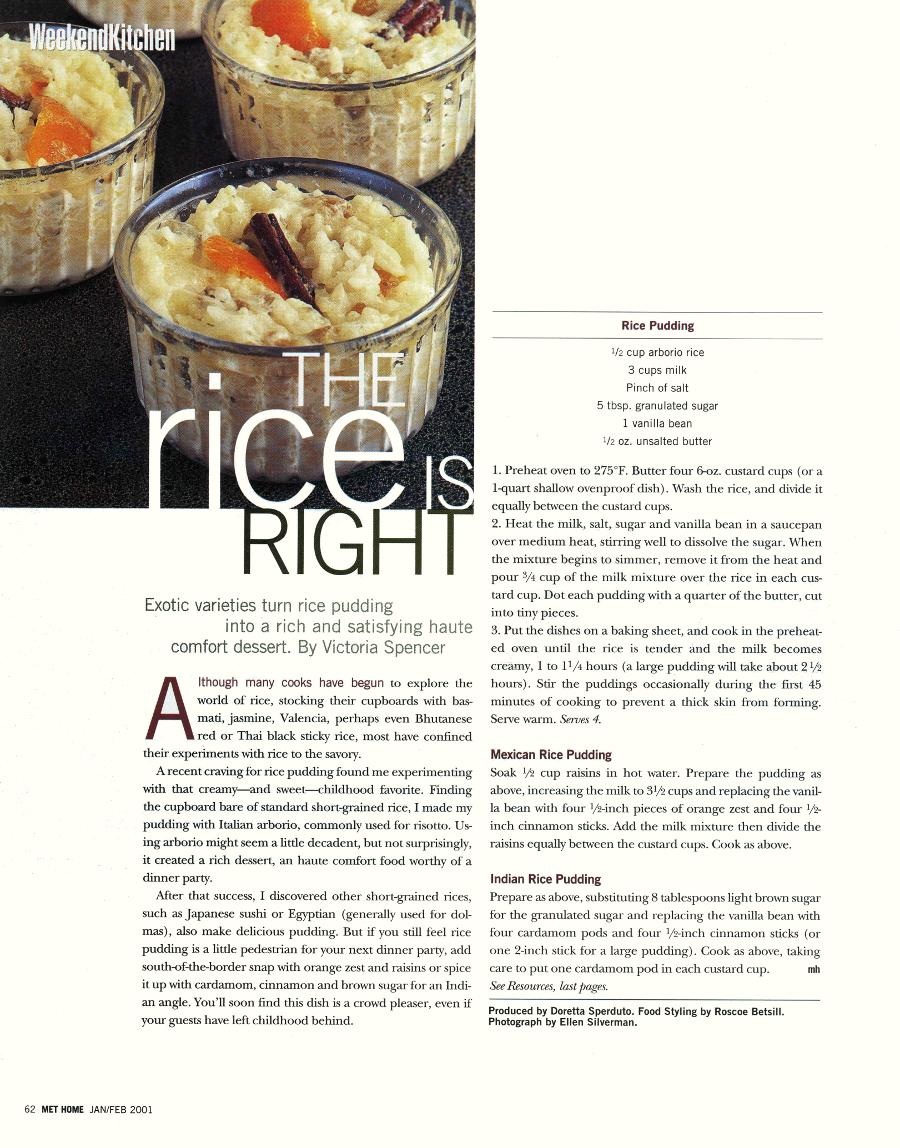 The Rice is Right - An article in Metropolitan Home - Page 1