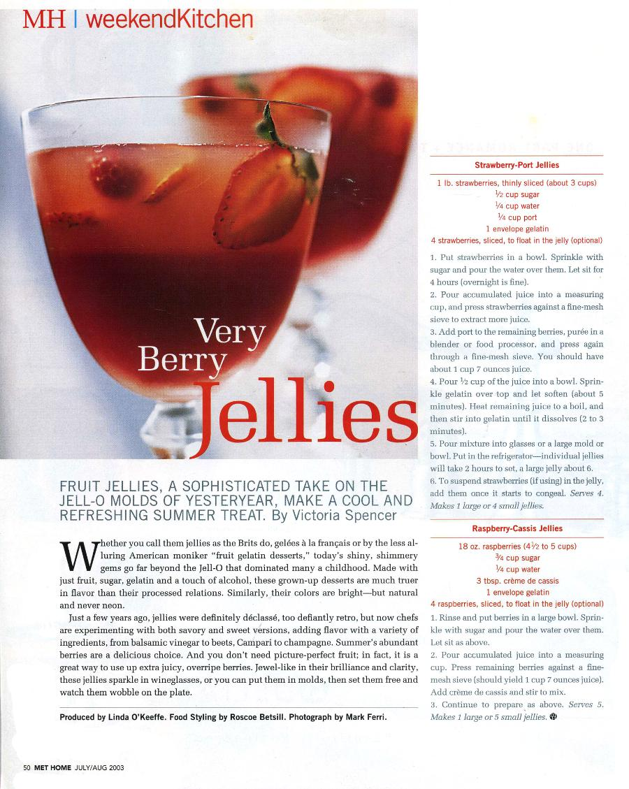 Very Berry Jellies - An article in Metropolitan Home - Page 1