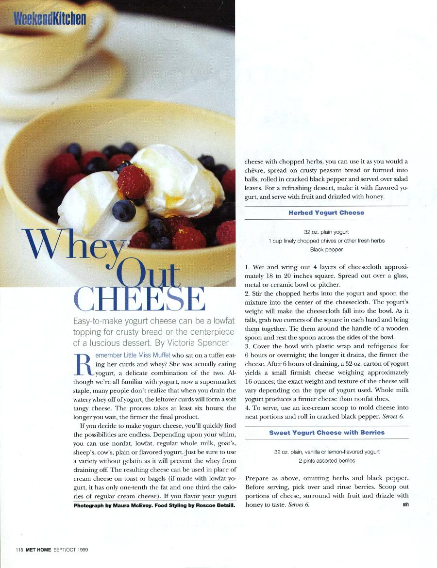 Whey Out Cheese - An Article in Metropolitan Home - Page 1